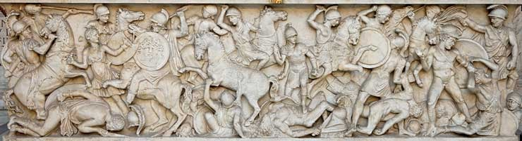 Frieze of a battle against Amazons produced in the Hellenistic Period