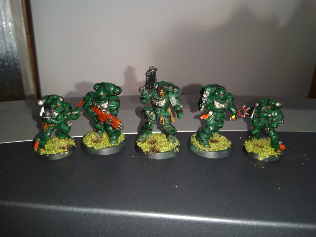 Adeptus Astartes space marines green tiger stripe camouflage fortunate sons miniatures games workshop painting warhammer