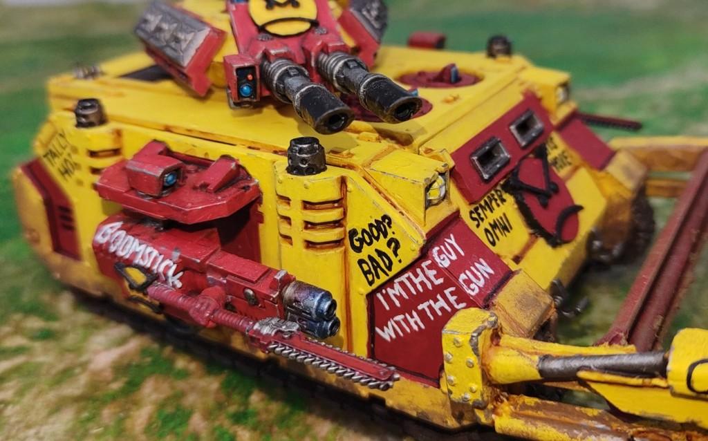Close up on the bayonet/scythe.
